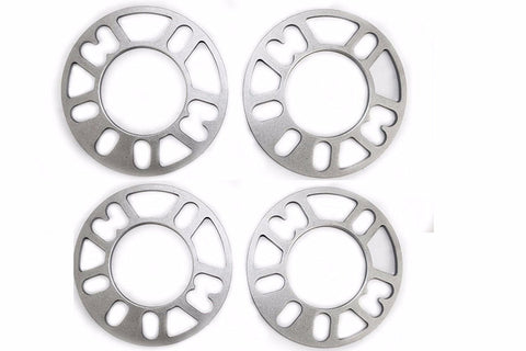 4 pcs Cast Aluminum Wheel Spacers 8mm Thick 1/2 studs ID 90mm OD 164mm