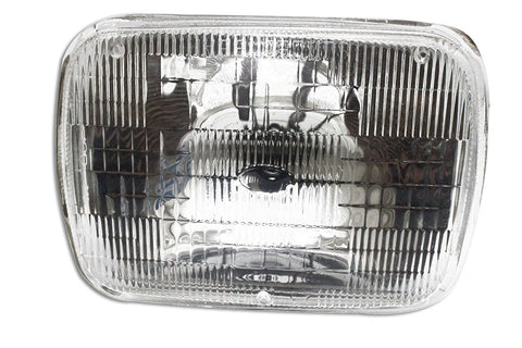 "7X6 Hi / Low Headlights With 7"" Round Sealed Beam Glass Head Lamp Light Bulb 12V Set of 4"