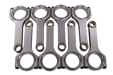 "H Beam 6.000"" 2.100"" .927"" Bronze Bush 4340 Connecting Rods for Chevy SBC 350"