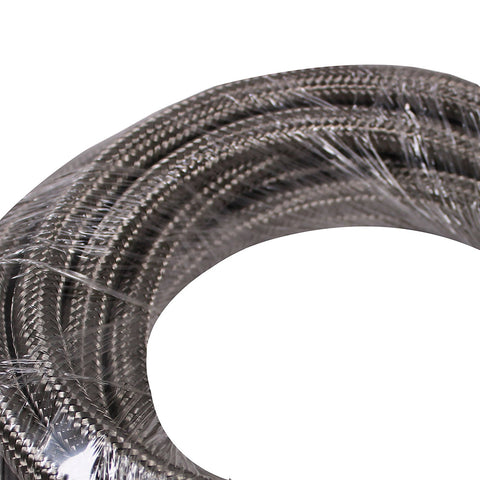 50 Feet 10-AN Braided Stainless Steel Turbo Oil Fuel Gas Line Hose 1500 PSI