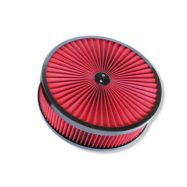 "14"" x 4 BLack Breather Washable Air Filter Cleaner Reusable for Ford Chevy"