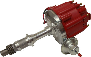 HEI Distributor 50,000V 50K Coil w/Adjustable Vaccum Advance,Red Cap