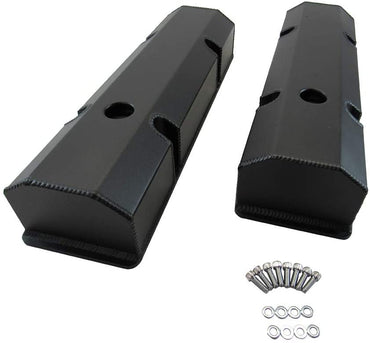 Fabricated Tall Valve Covers Black for Small Block Chevy SBC 350