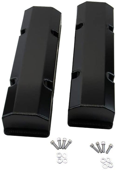 Fabricated Tall Valve Cover Black Anodized for Small Block Chevy 350