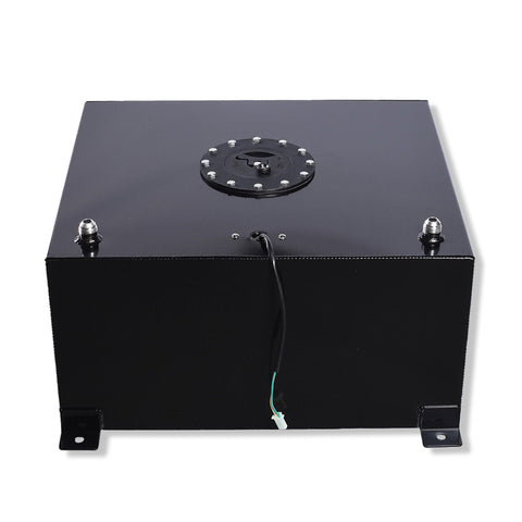 15 Gallon OEM Fuel Cell Tank Polished Aluminum Racing Drift Black Fuel Cell Tank & Level Sender