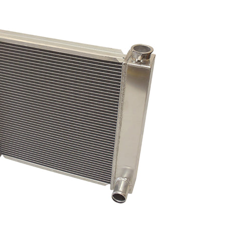 "For SBC BBC Chevy GM Fabricated Aluminum Radiator 22"" x 19"" x3"" Overall & 14"" Heavy Duty Radiator Electric Fan"