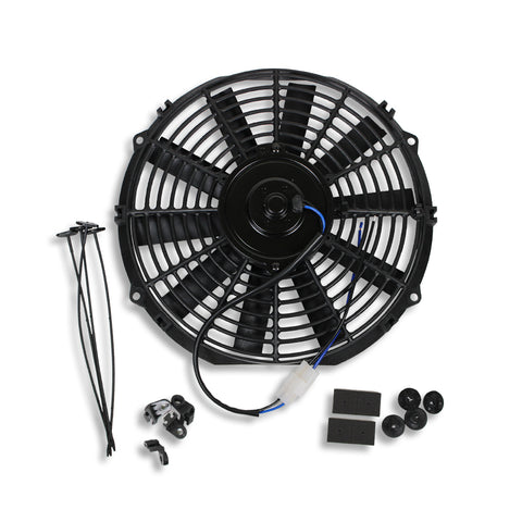"10"" Pull/Push 12v Silm Electric Radiator Motor Cooling Fan & Mounting Kit"