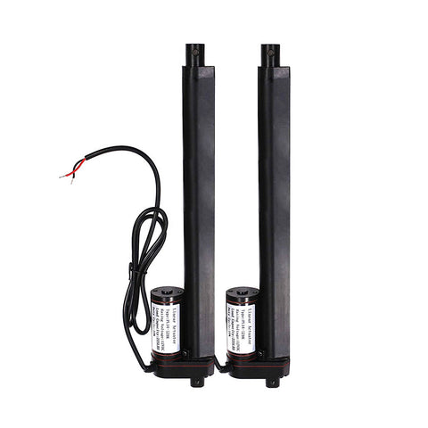 "2 pcs 12 Inch 12"" Stroke Linear Actuator 12Volt 12V 225 Pounds lbs Maximum Lift"