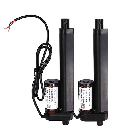 2 pcs 6 Inch Linear Actuator 12 Volt 225 Pounds 4.6 Amp Draw