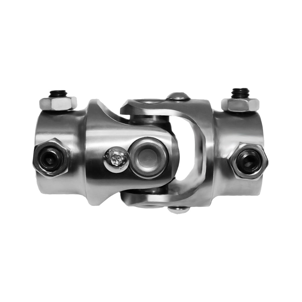 "New Universal Steering U Joint 3/4""-36 Spline To 3/4"" DD Stainless Steel"