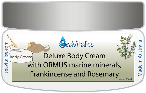 New! Deluxe Frankincense and Rosemary Body Cream 250g