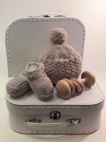 NZ made - Alpaca Beanie and Bootie Set