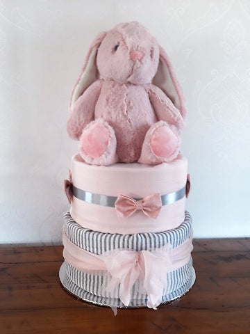 Diaper cake - Double - Pink Bunny