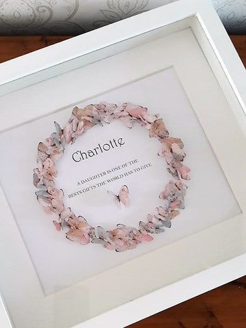 Paper Butterfly Wreath - Charlotte - Pastels