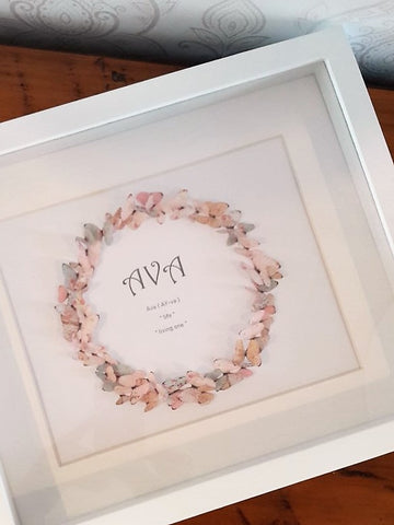 Paper Butterfly Wreath - Ava - Pastels