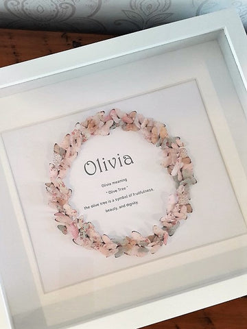 Paper Butterfly Wreath - Olivia - Pastels