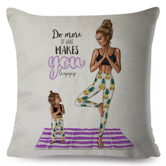 Decorative Cartoon Throw Pillowcase