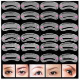 24 pcs/pack Reusable Eyebrow Stencil Set - NeedIt.ca