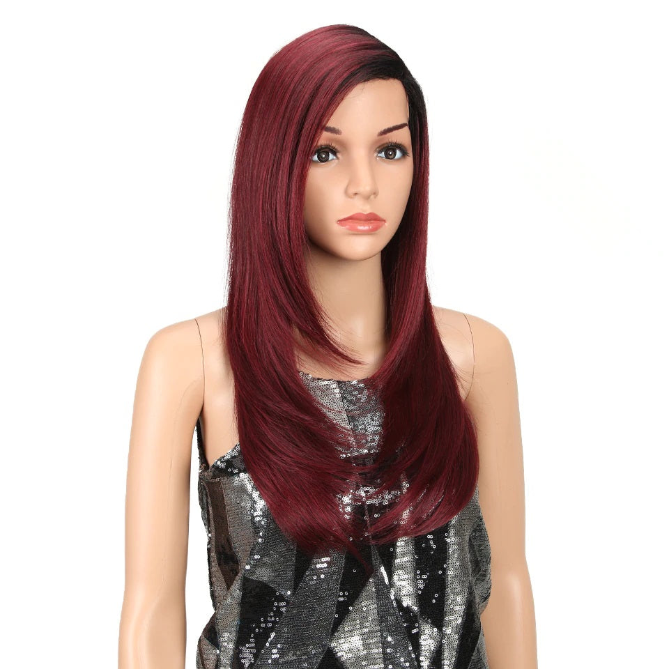 "Angela - Black to Red 24"" Lace Front Wig"