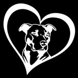 Pit Bull in a Heart Car Decal
