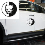 Circle Pit Bull Car Decal