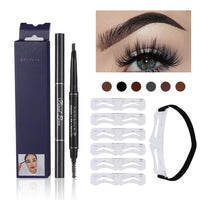 Eyebrow Tattoo Pencil + 6 pcs/set eyebrow stencils
