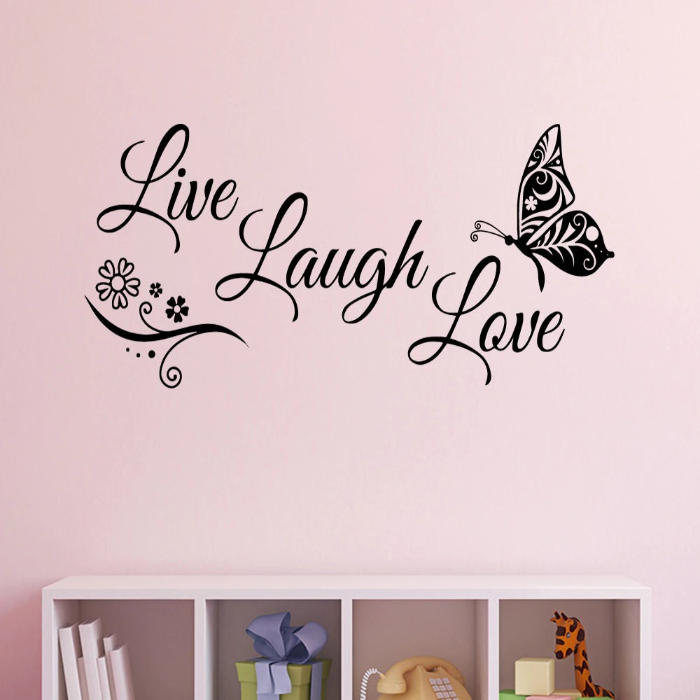 Live Laugh Love Black Wall Decal