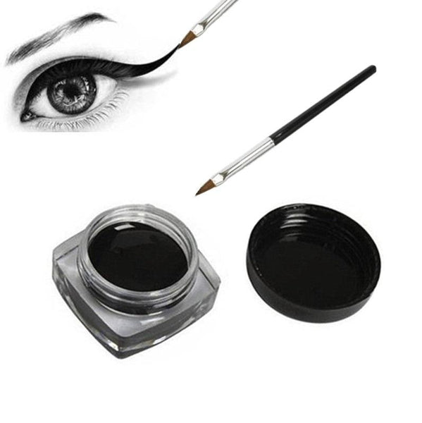 Waterproof Black Cream Eyeliner with brush - NeedIt.ca