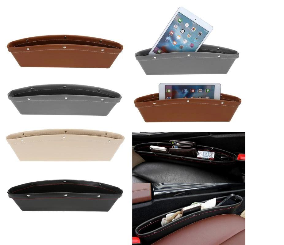 Leather Seat Storage Box Organizer