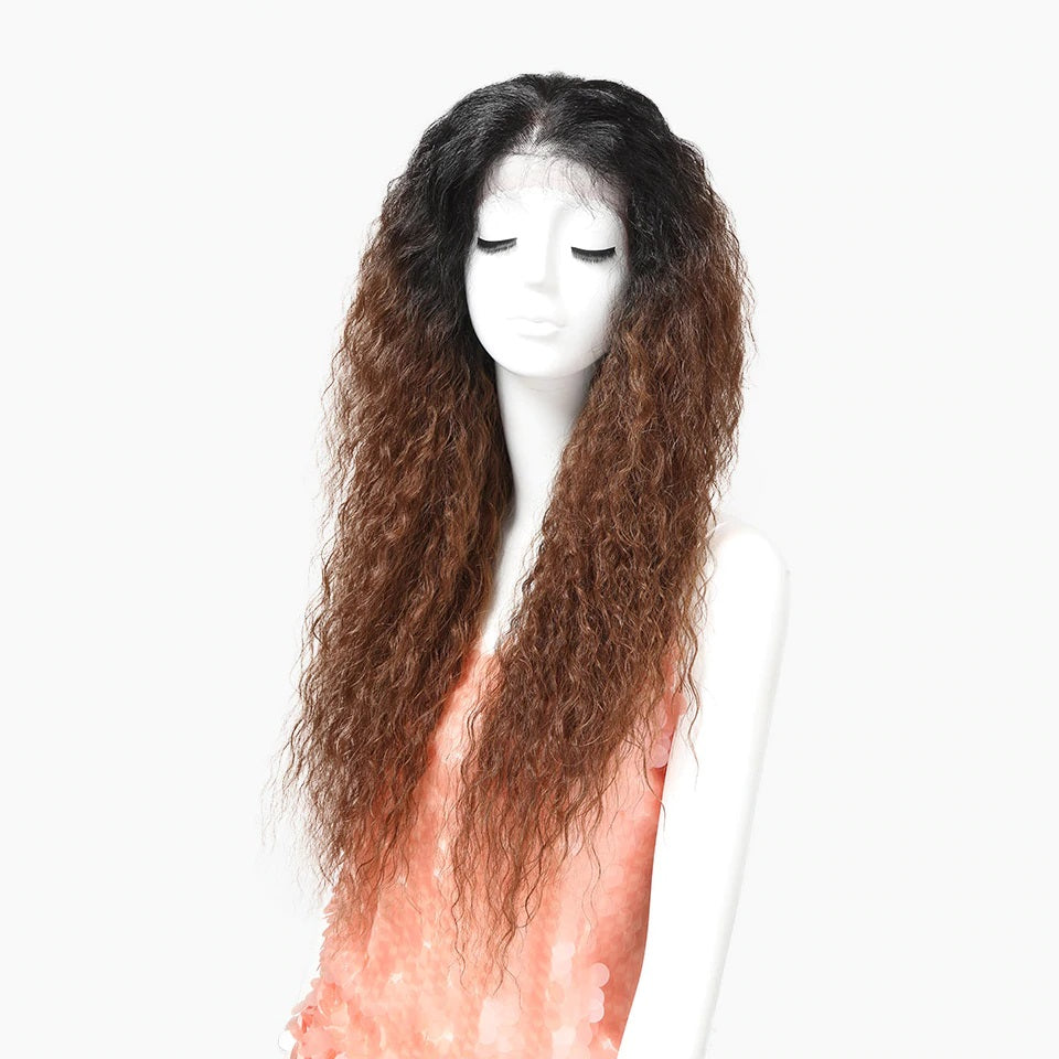"Island Dream - Black to Brown 30"" long 13x4 Lace Front Wig"