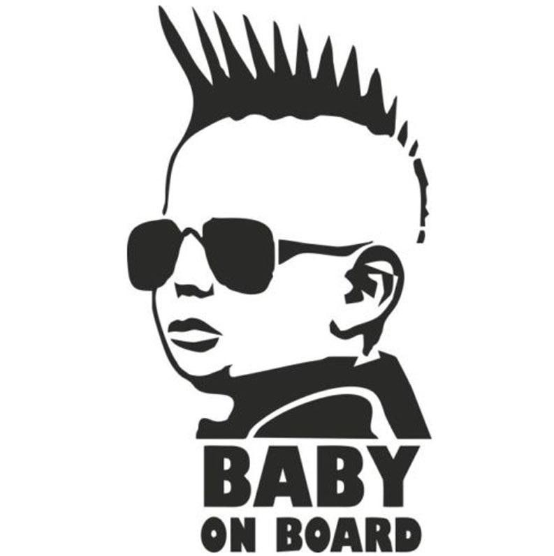 Baby Mohawk hair on Board Car Decal - NeedIt.ca