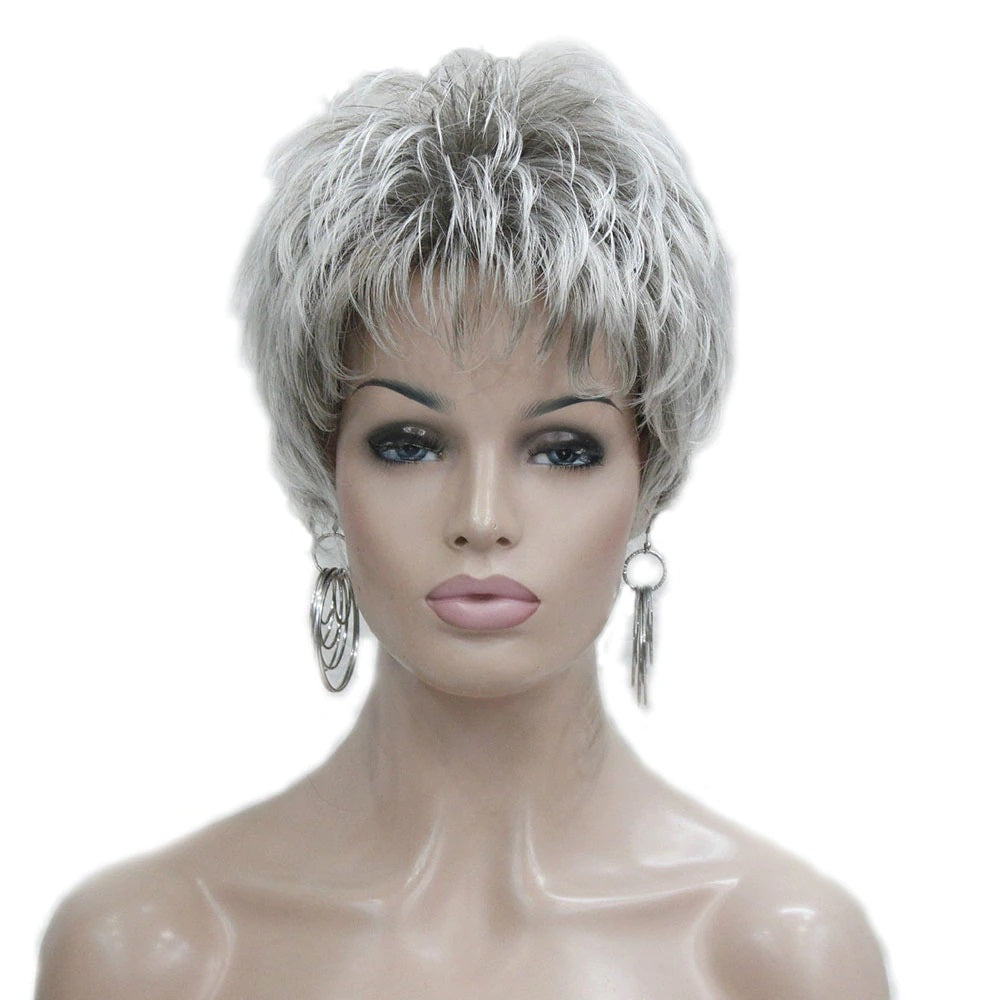 Kim Short Blonde/Grey Wig