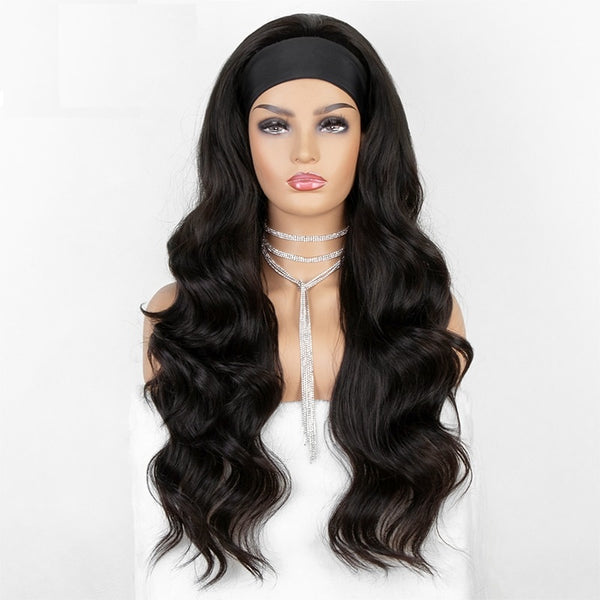 "Chantelle - Water Wave U-part Wig With Black Headband 24"" Long"