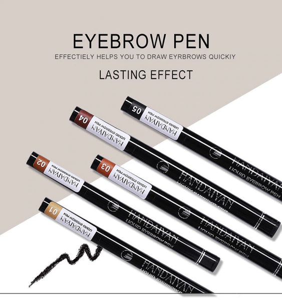 Waterproof Fork Tip Eye Brow Pens