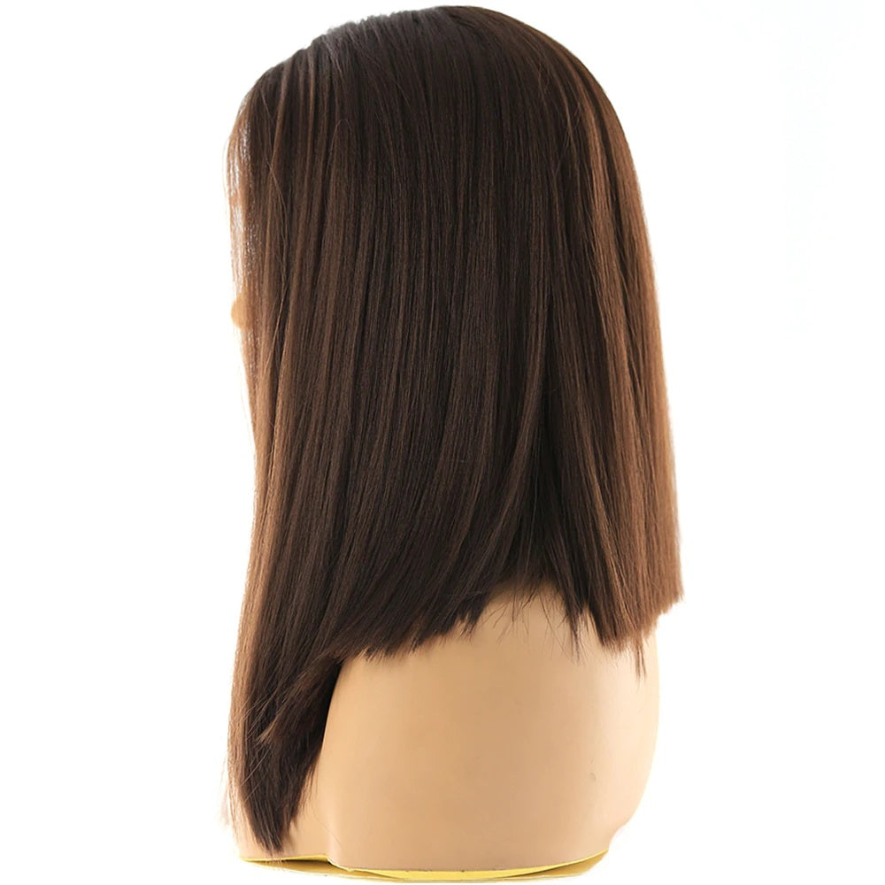 "Short Georgia - Brown Lace Front Wig 14"" long"