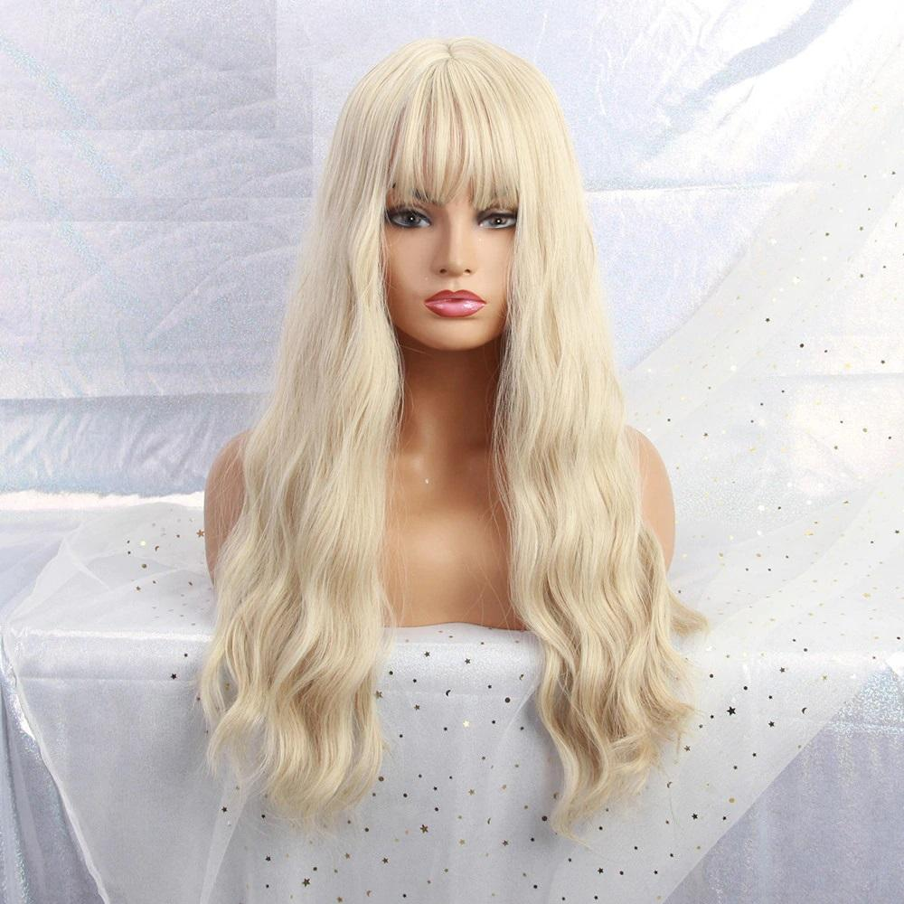 Brianna Beach Blonde Wig with Bangs - NeedIt.ca