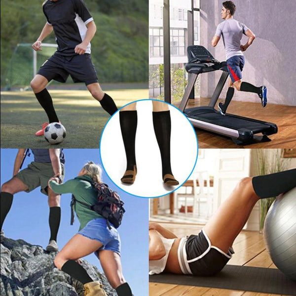 New Styles Anti-Fatigue Compression Socks with Copper Fibers