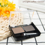Eyebrow Powder Palette with Brush Set 2 Colors