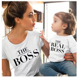 Mother and Daughter Matching Shirts The real Boss - NeedIt.ca