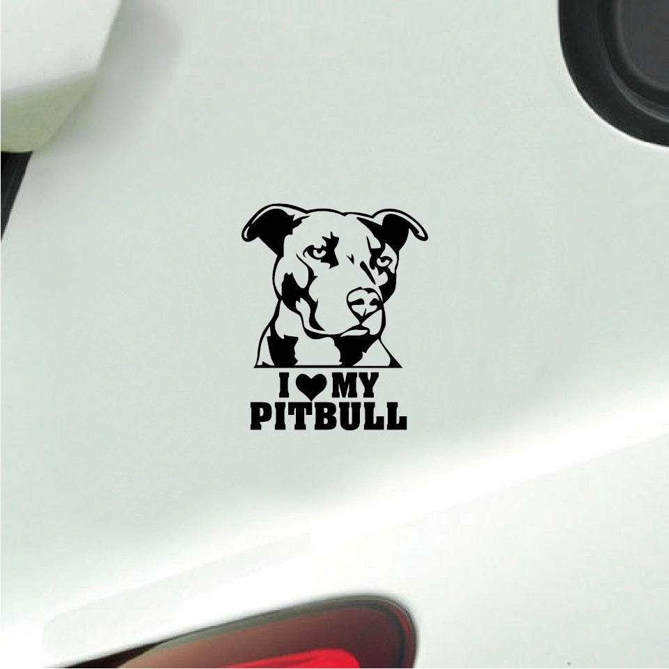 I love my Pit Bull Car Decal