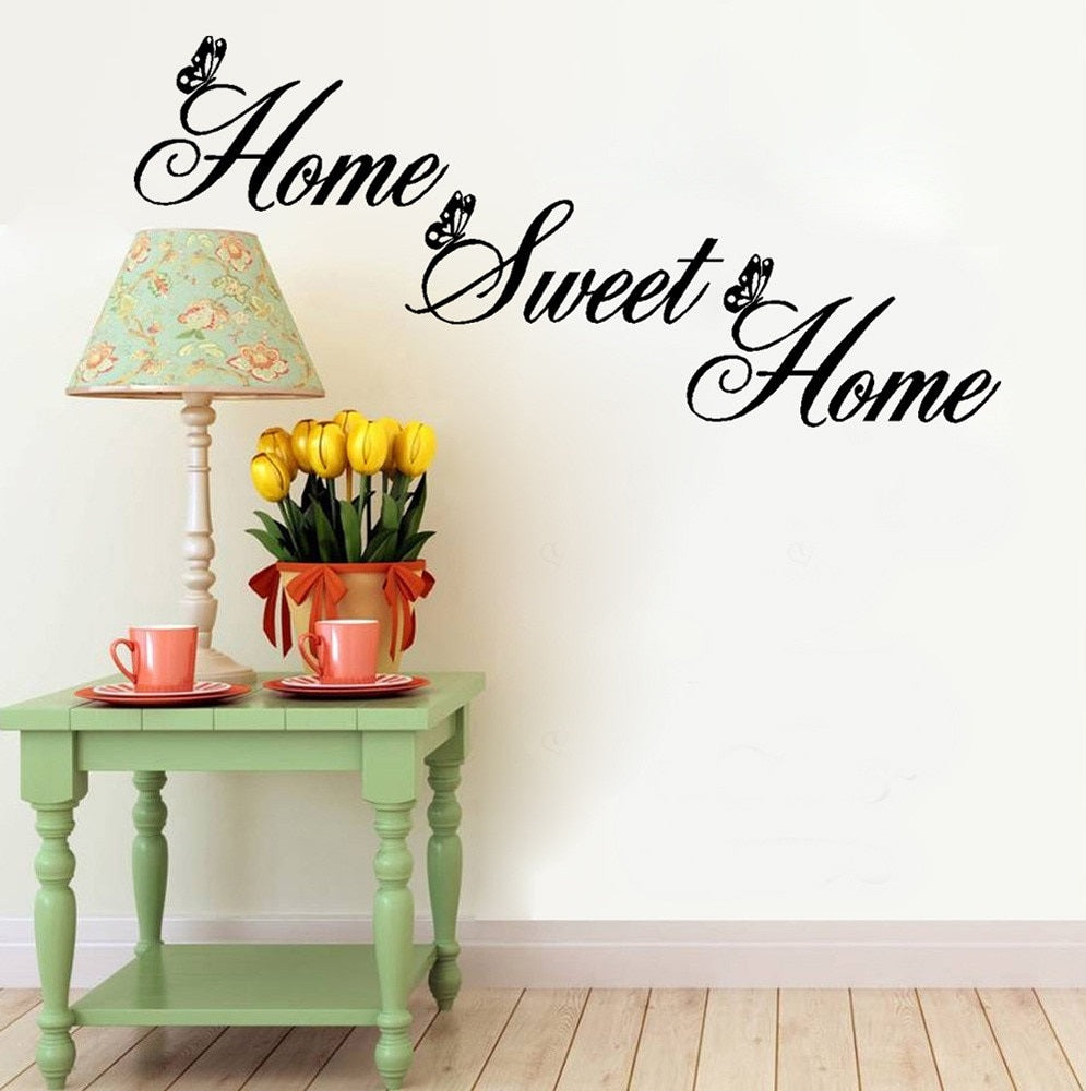 Home Sweet Home Inspirational Quote Wall Decal