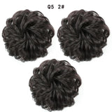 Synthetic Messy Hair Bun Rubber Band