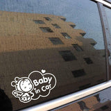 Baby In Car Safety Sign Cute Car Sticker - NeedIt.ca