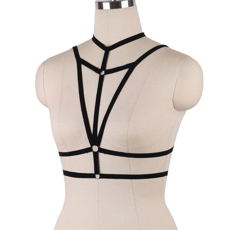 Meaghan Strappy Harness Bras