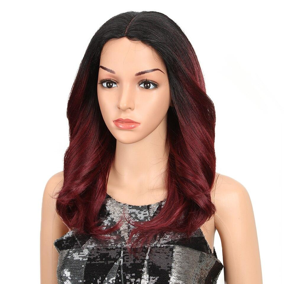 "Hannah - Black to Red Lace Front Wig 18"" long - NeedIt.ca"