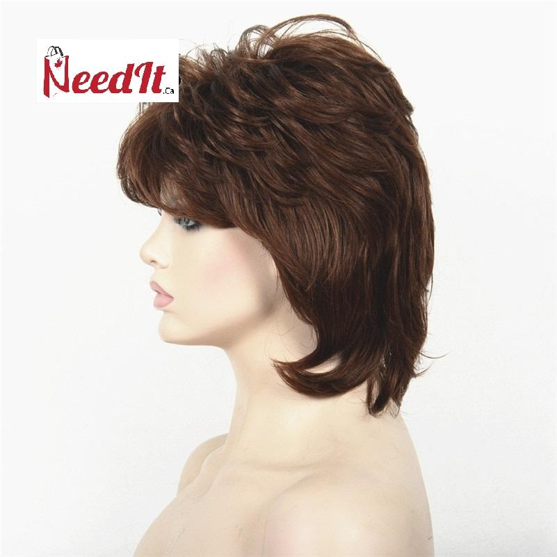 "Becky 10"" Classic Full Head Wig Brown - NeedIt.ca"