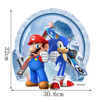 Super Mario and Sonic The Hedgehog Wall Sticker