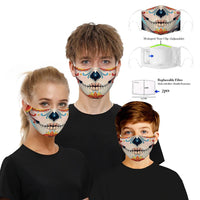 1 pc Reusable Funny Face Mask