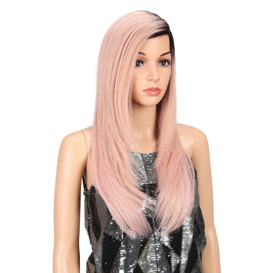 "Angela - Black to Pink 24"" Lace Front Wig"