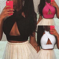 Kim K Backless Bandage Crop Top - NeedIt.ca